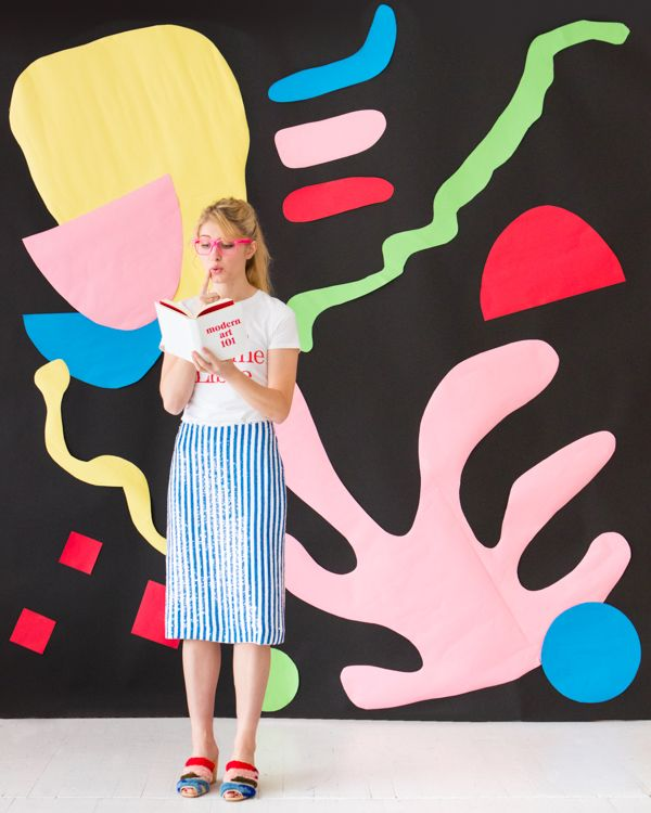 giant matisse inspired art backdrop oh happy day decorate it rh pinterest com