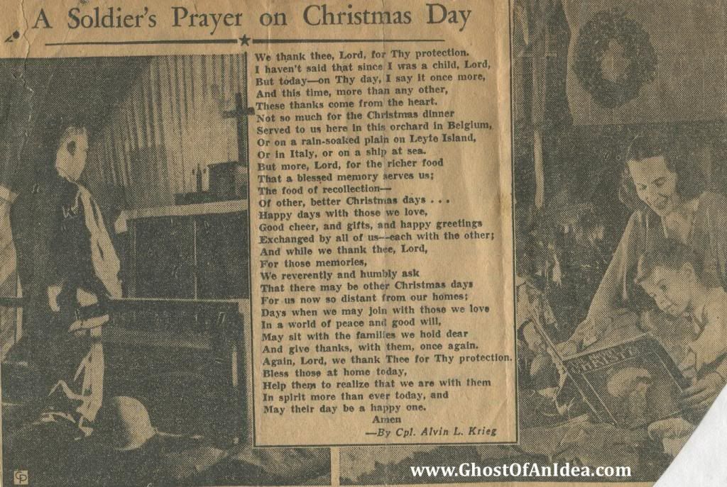 Poem A Soldier's Christmas | in 4 posts a soldier s prayer on christmas day