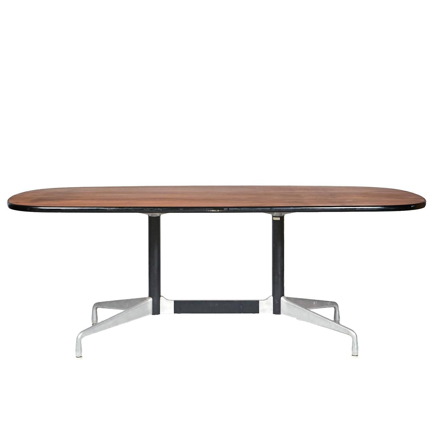 Herman Miller Walnut Top Table By Ray & Charles Eames,
