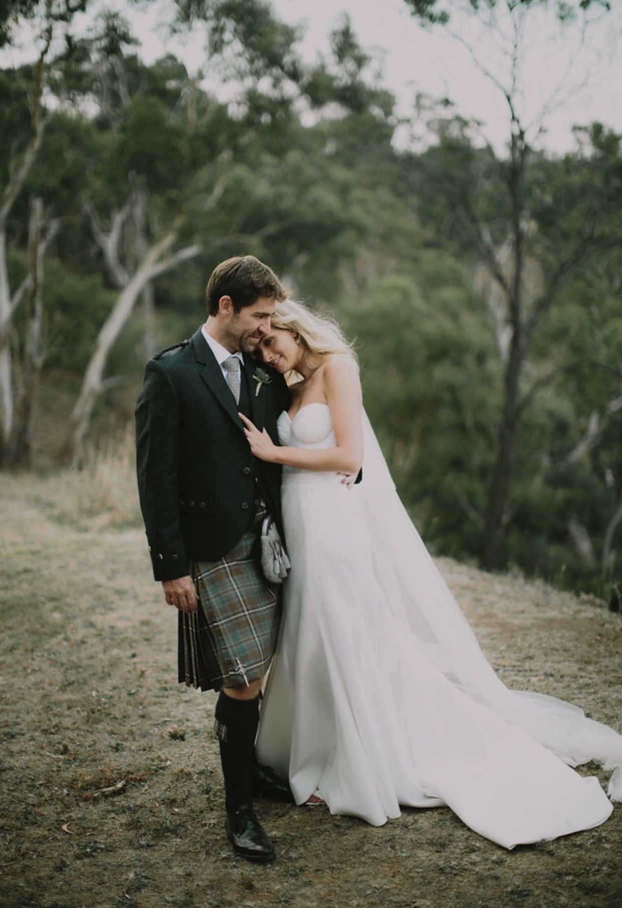 Jess + Ian. Jess looked classic in the Blake/Prea combination gown ...