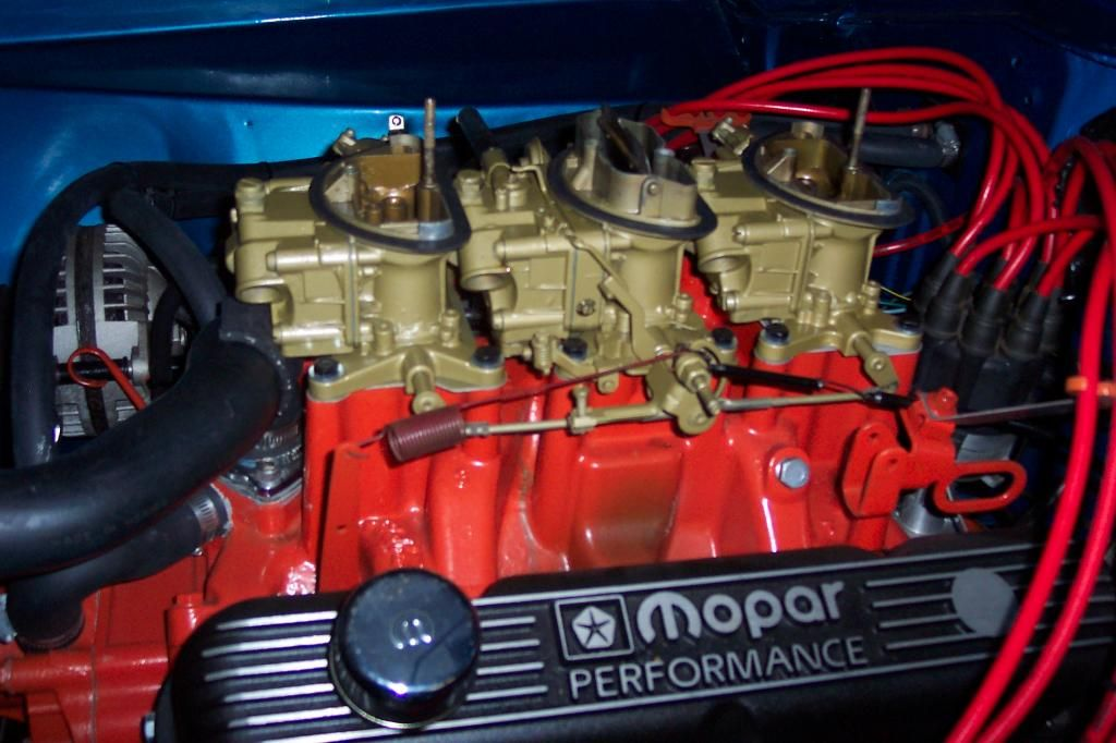dodge 340 six pack engine