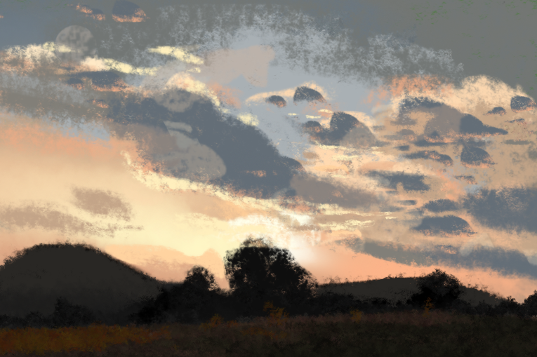 Late #summer #sunset. One of my favorite #places near home. #Pleinair with #procreate for #ipad . #drawing #landscape