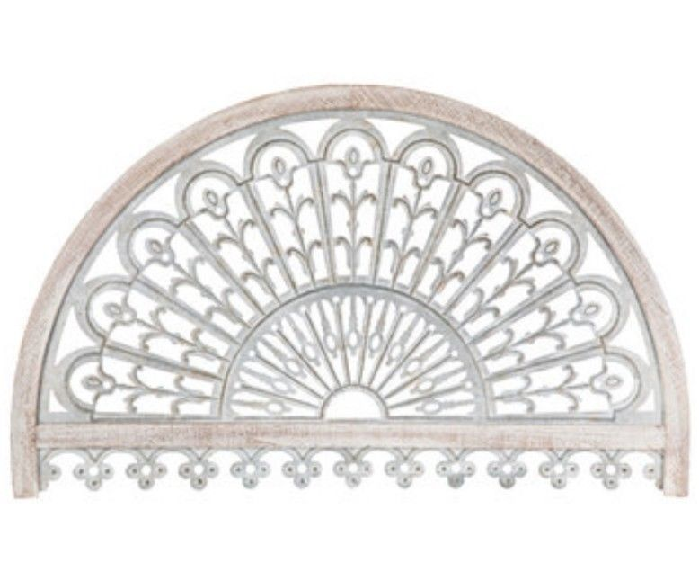 Take Pride In Your Home While Displaying Whitewash Arch Metal Wall Decor On Any Surface It Features A Hal Metal Wall Decor Arched Wall Decor Mirror Wall Decor