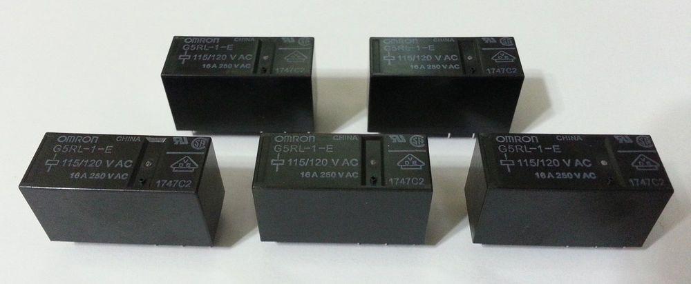 """/""""NEW/"""" OMRON G5RL-1-E-AC115//120"""