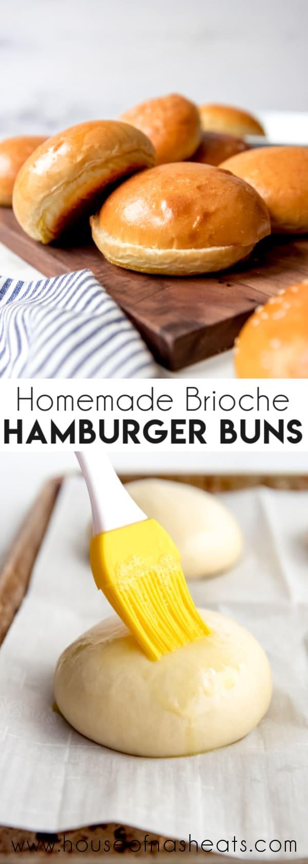 Homemade Brioche Hamburger Buns - House of Nash Eats
