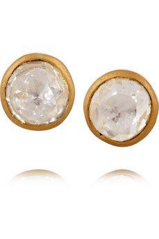 MUNNU 22-karat gold diamond earrings | NET-A-PORTER