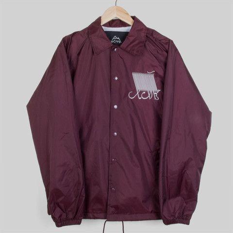 Script Maroon Coach Jacket #Logo #design #streetwear #fashion #xcvb