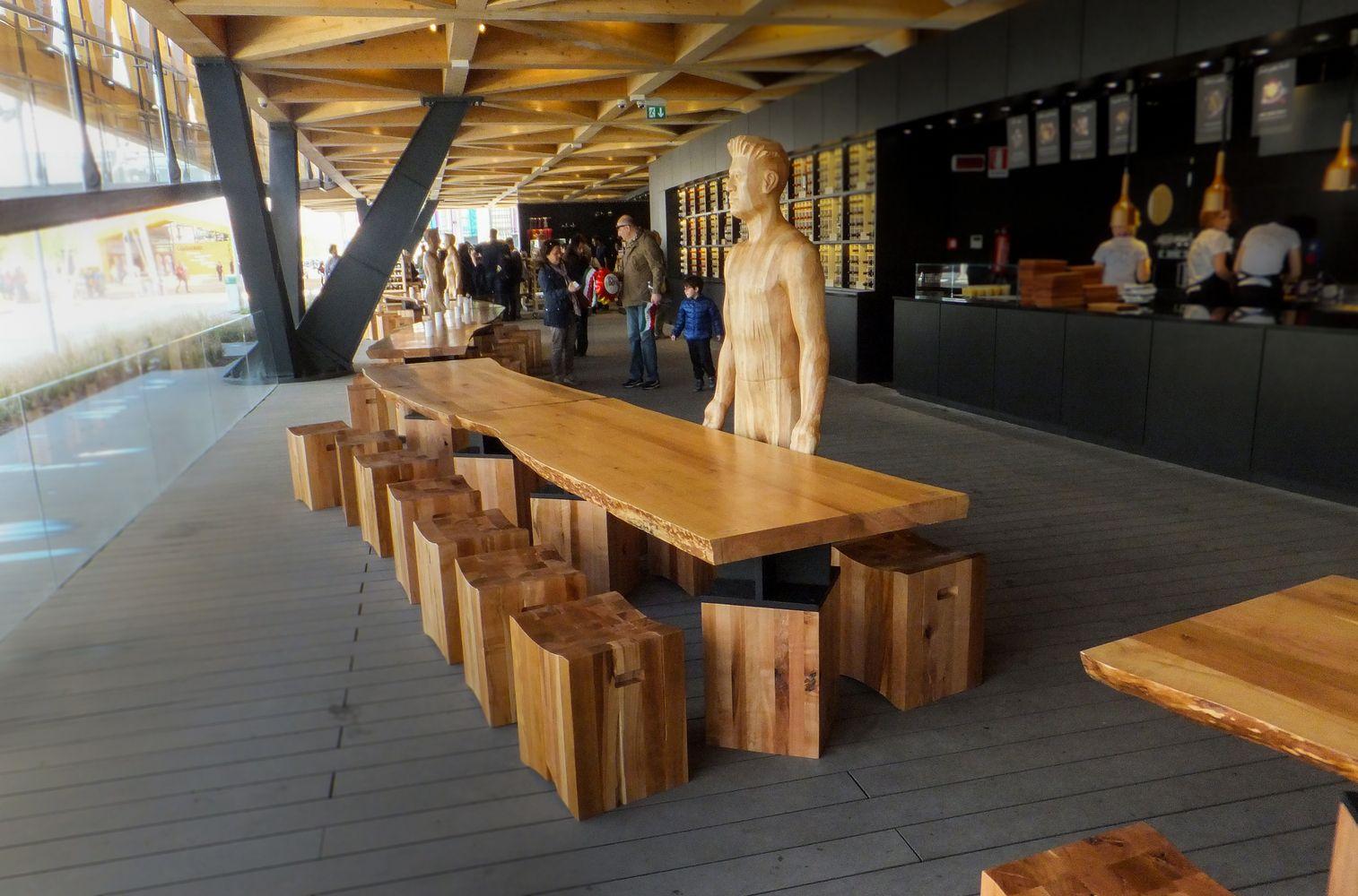 """Galería - La """"mesa de Chile"""" en la Expo Milán 2015 / 50 metros de madera de lenga - 14"""