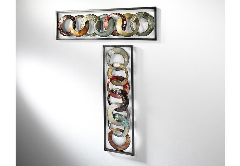 Great Wandbild er Set aus Metall Wanddeko Metallbild Wandschmuck Bilder Bild Deko in M bel u Wohnen