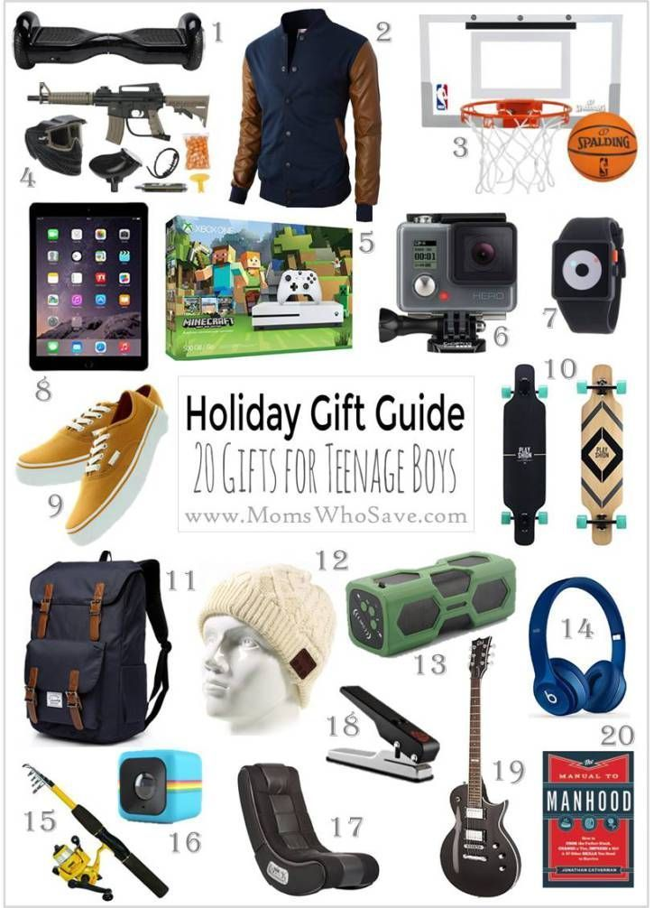 Gift Guide — 20 Great Gift Ideas for Teenage Boys | MomsWhoSave.com :  Holiday Gift Guide — 20 Great Gift Ideas for Teenage Boys    #gifts #holidays  #Boys #Gift #Great #Guide #HolidayGiftforteenageboys #Ideas #MomsWhoSavecom #teenage