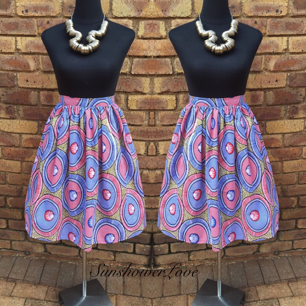 Ankara Gathered Skirt #SunshowerLove
