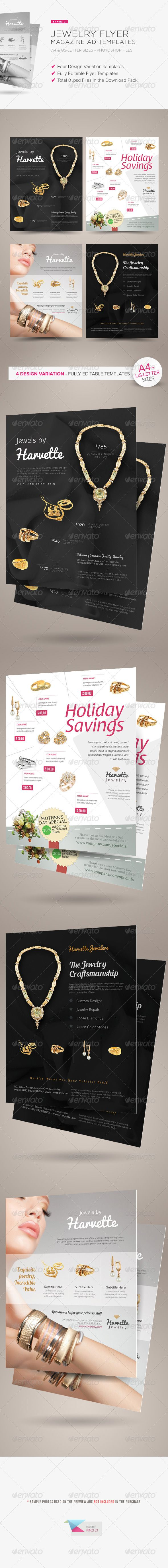 jewelry flyer or magazine ad templates flyer templates pinterest
