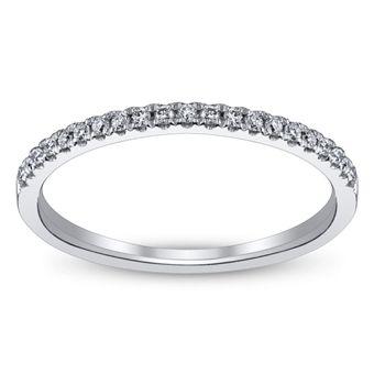 Royal Tiara 14K White Gold Diamond Wedding Ring 1/10 Carat Total Weight