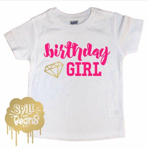 02469e74 Diamond Birthday Girl Tee, Diamond Bday, Birthday Girl Shirt, Graphic Tee, Baby  Girl, Toddler Girl,