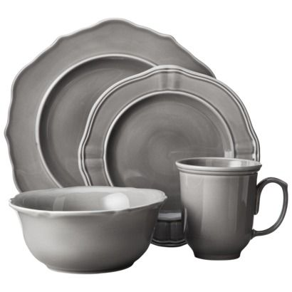 Threshold™ 16 Piece Wellsbridge Dinnerware Set - Charcoal  sc 1 st  Pinterest & Threshold™ 16 Piece Wellsbridge Dinnerware Set - Charcoal | For the ...