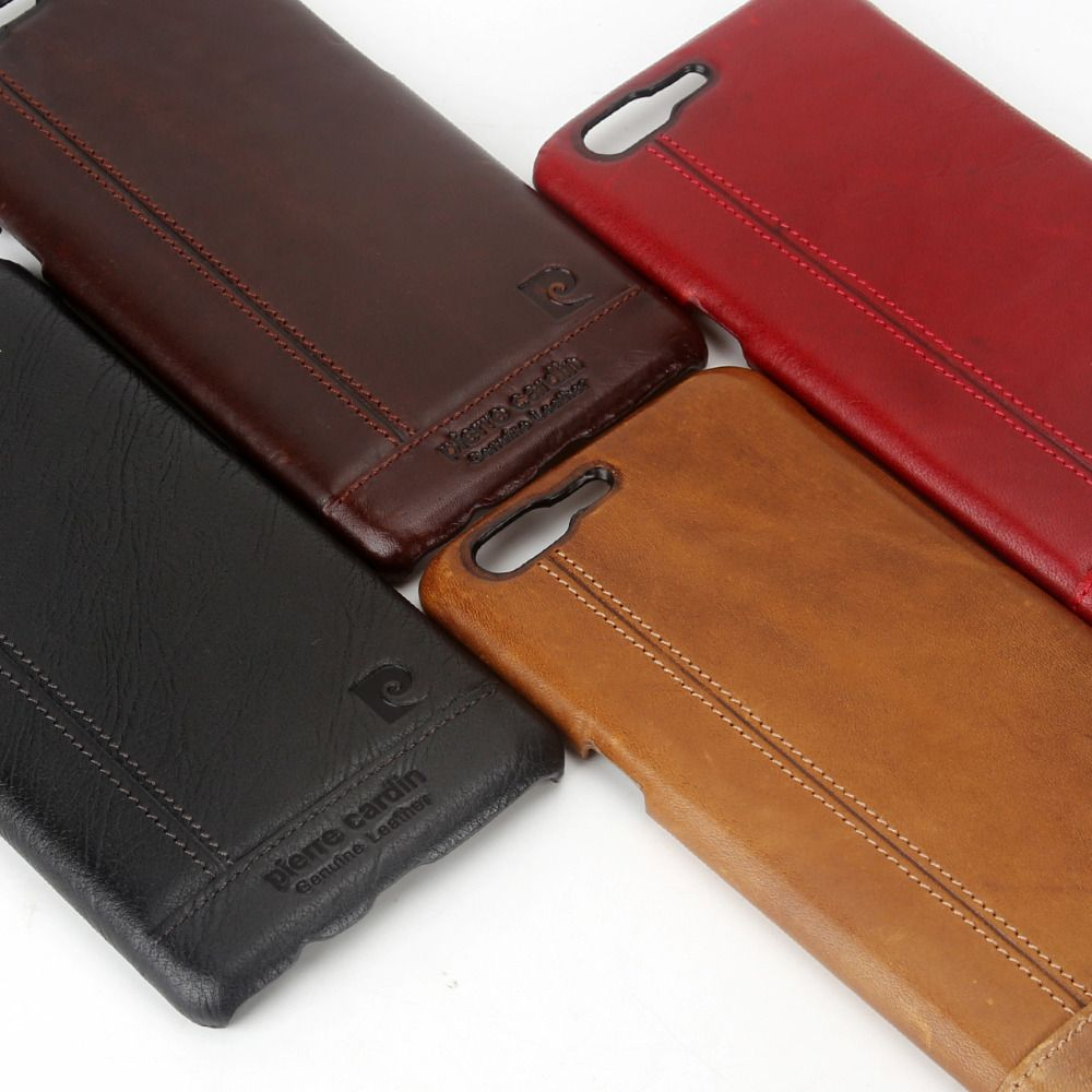 huge selection of 8b961 03e89 Pierre Cardin Genuine Leather Luxury Ultrathin Cell Phones Case For ...