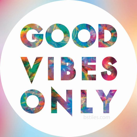 GOOD VIBES ONLY Sticker, Hippie Bumper Sticker, New Circle