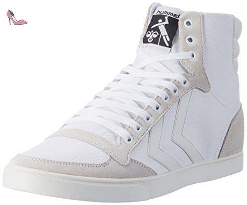 hummel Slimmer Stadil Tonal Low, Sneakers Basses Mixte Adulte, Blanc (White), 44 EU