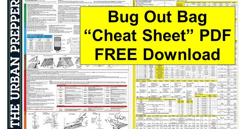 Bug Out Survival Cheat Sheet Pdf Download With Images Survival