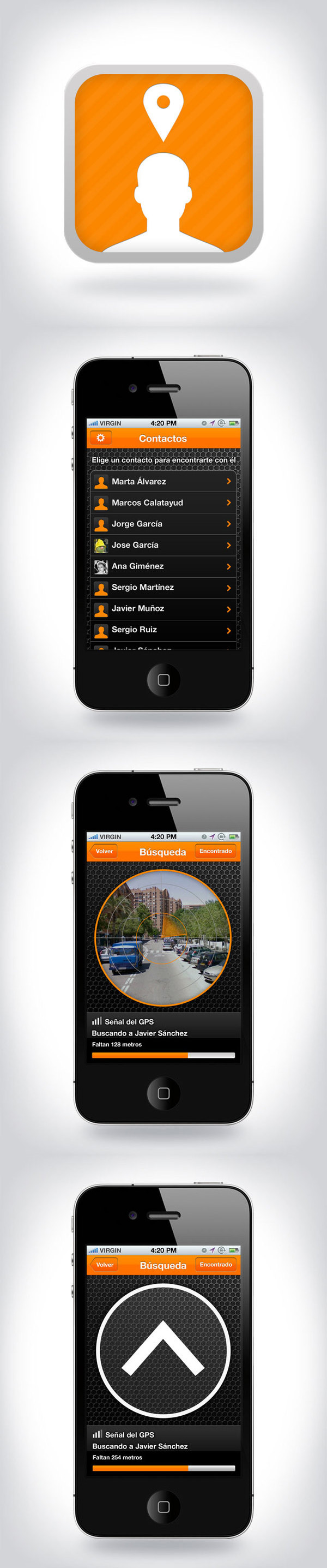 Meet Me App by Ana Ascorbe, via Behance Me app, Web