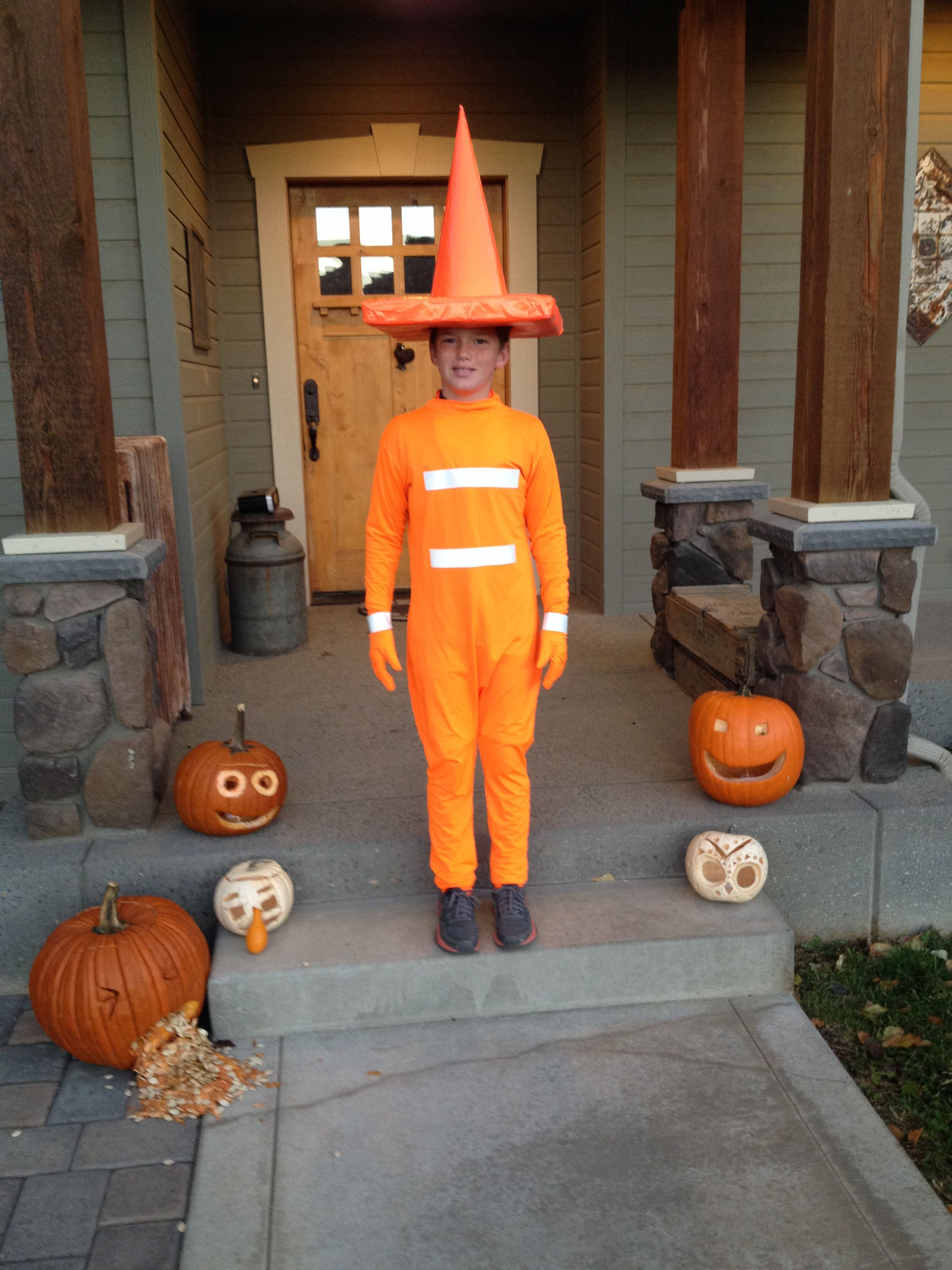 traffic cone costume happy halloween