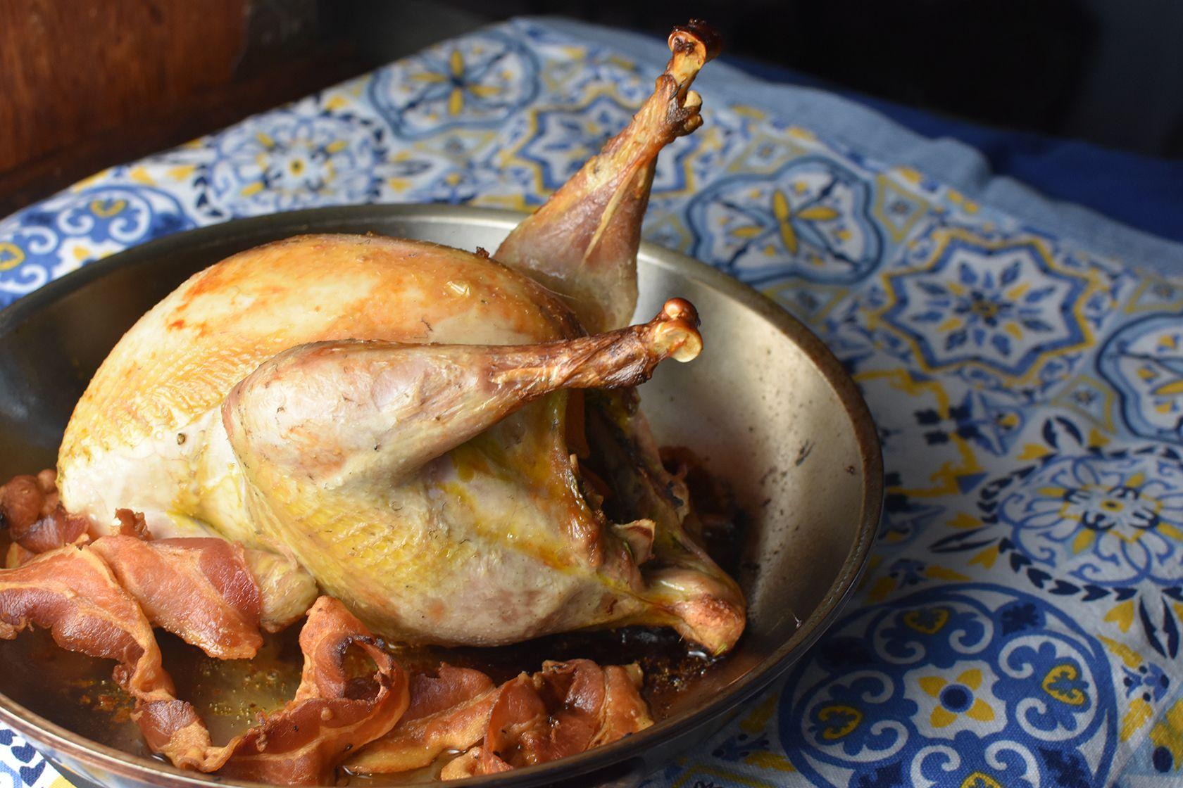 Roast Pheasant with Marsala Pan Sauce Recipe Roast