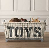 toys wire basket - begging to be DIY'd - especially once you see the price tag! Woo!