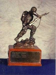 National Trophy Individual Trophy Match The National Guard Association Trophy was presented to the NBPRP in 1983 and replaces the original trophy established in 1979. The trophy depicts a helmeted Guardsman in bronze, mounted on a two-tiered walnut base. NATIONAL GUARD ASSOCIATION TROPHY WINNERS Awarded to: Highest scoring National Guard competitor INDIVIDUAL SCORE YEAR CW3 DIVID R. LOGAN, ARNG 489-08XContinue Reading