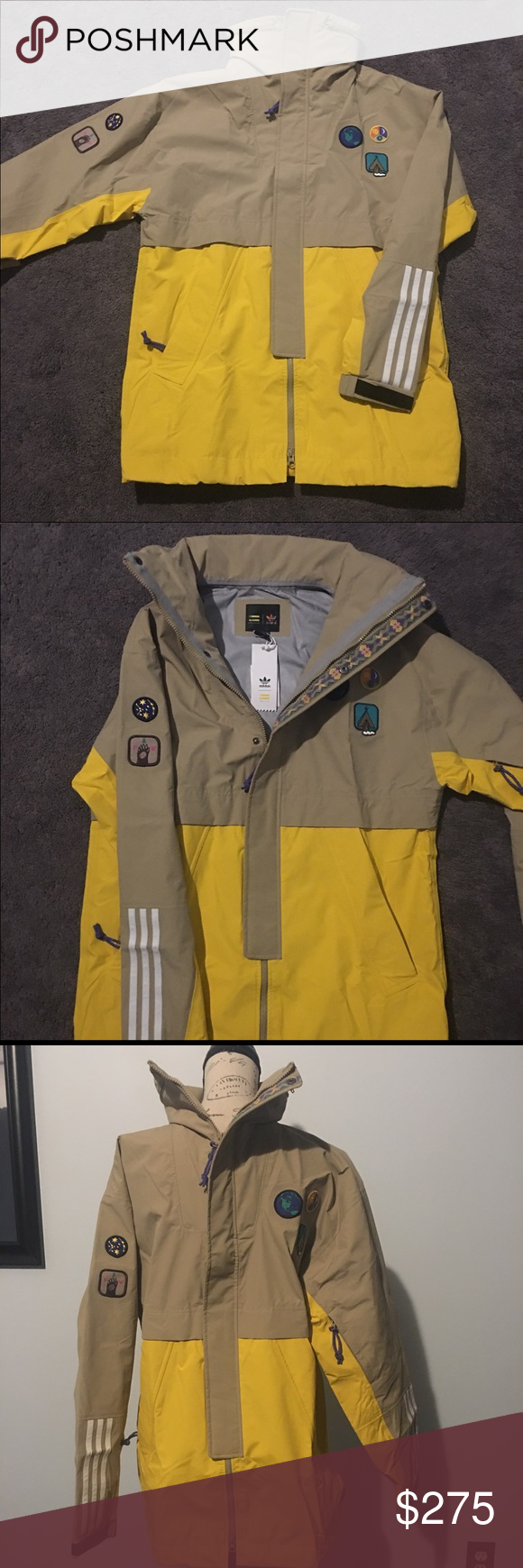 68f66e0877a2 Adidas Pharrell Williams Hu Hiking 3 layer Jacket Adidas x Pharrell  Williams Men Hu Hiking 3