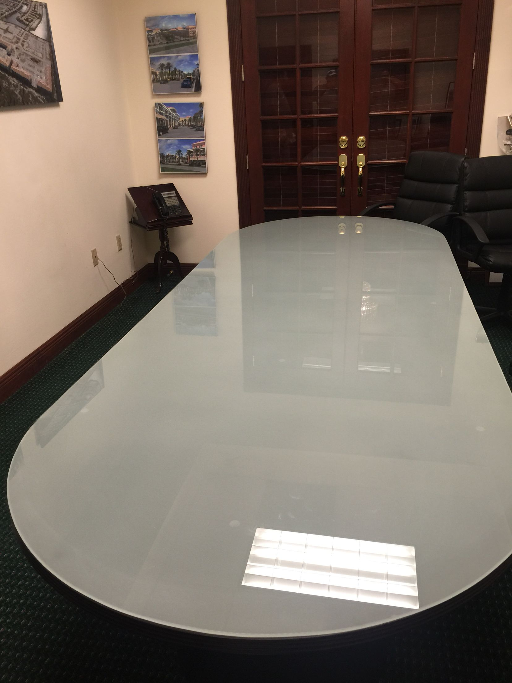 Frosted Glass Table Top Green America Glass Glass Work Done Right!