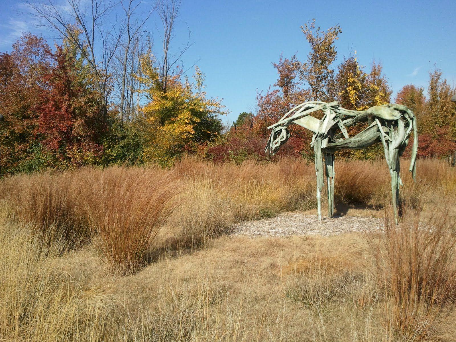 Deborah Butterfield - Cabin Creek. Sculpture Garden of Frederick ...