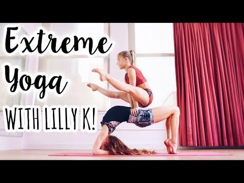 extreme yoga challenge with lilly k  youtube  yoga