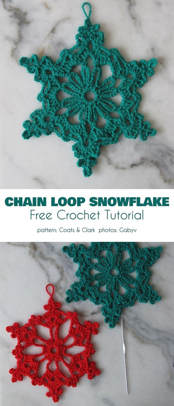 Collection of The Best Free Snowflake Crochet Patterns #haken
