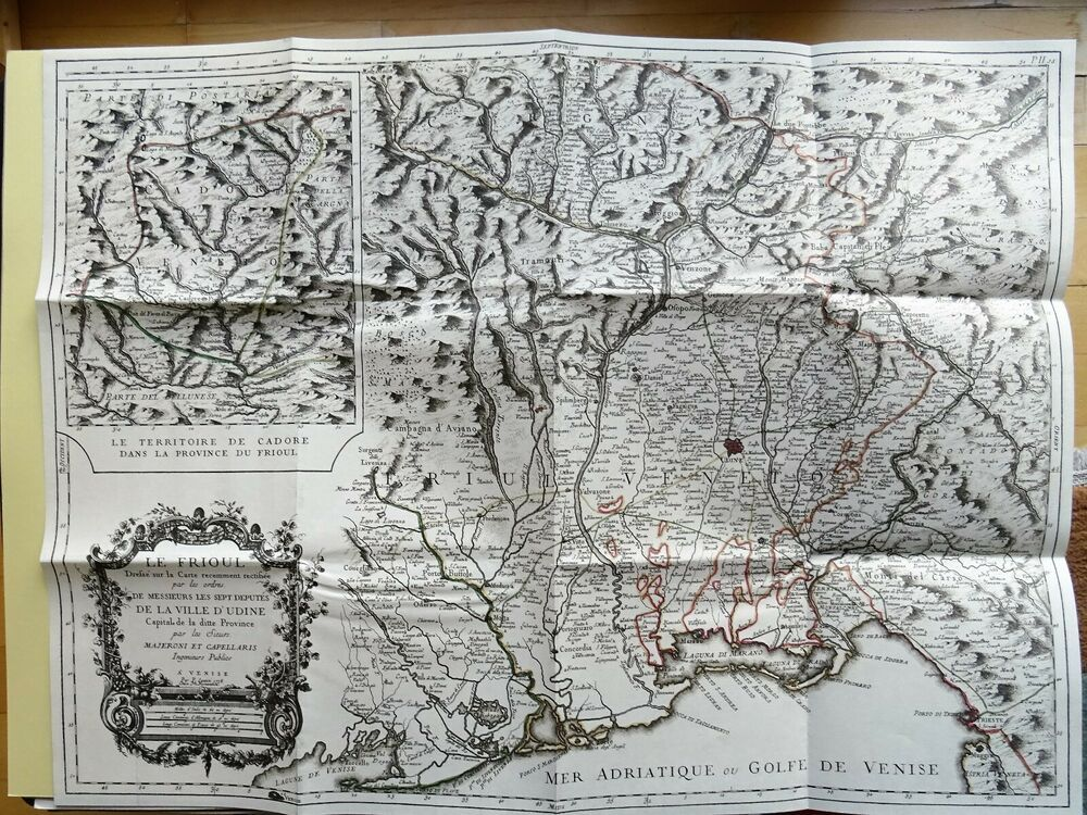 K U K Monarchie Osterreich Landkarte Map Plan Italien Friaul