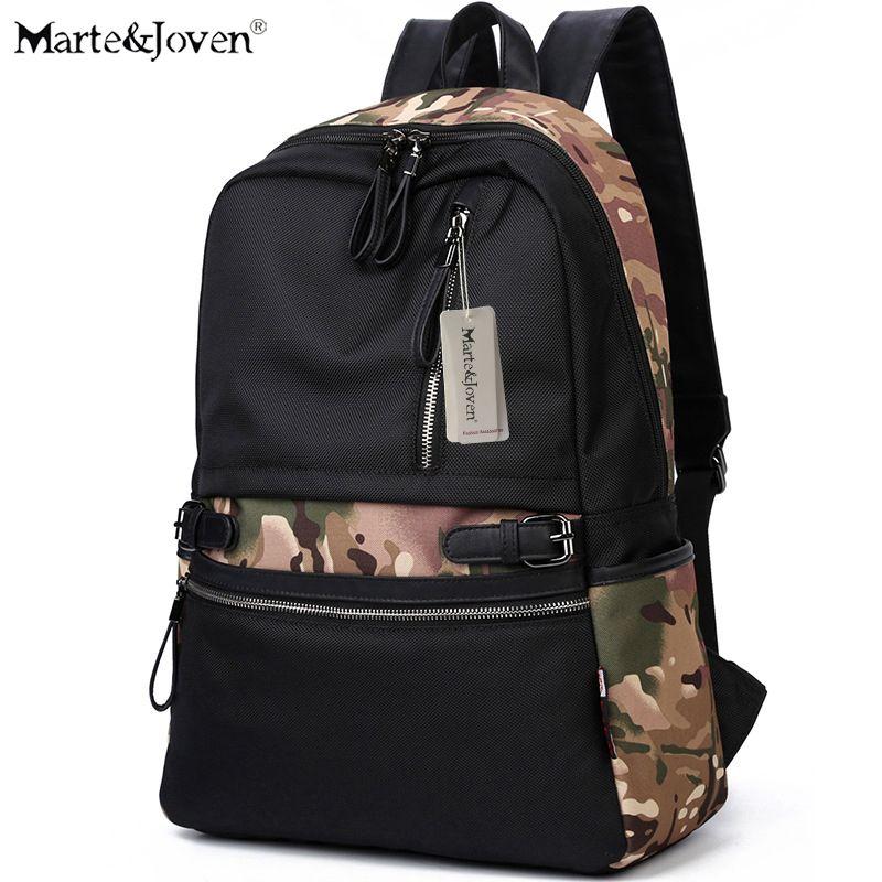 Marte&Joven] 2017 New Design Waterproof Black Backpack for School ...