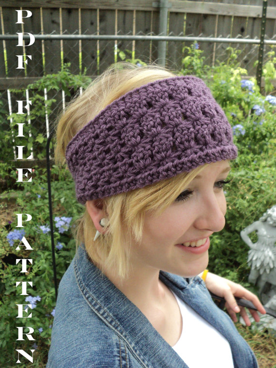 Crochet Pattern Star Stitch Headband Adult And Children Sizes