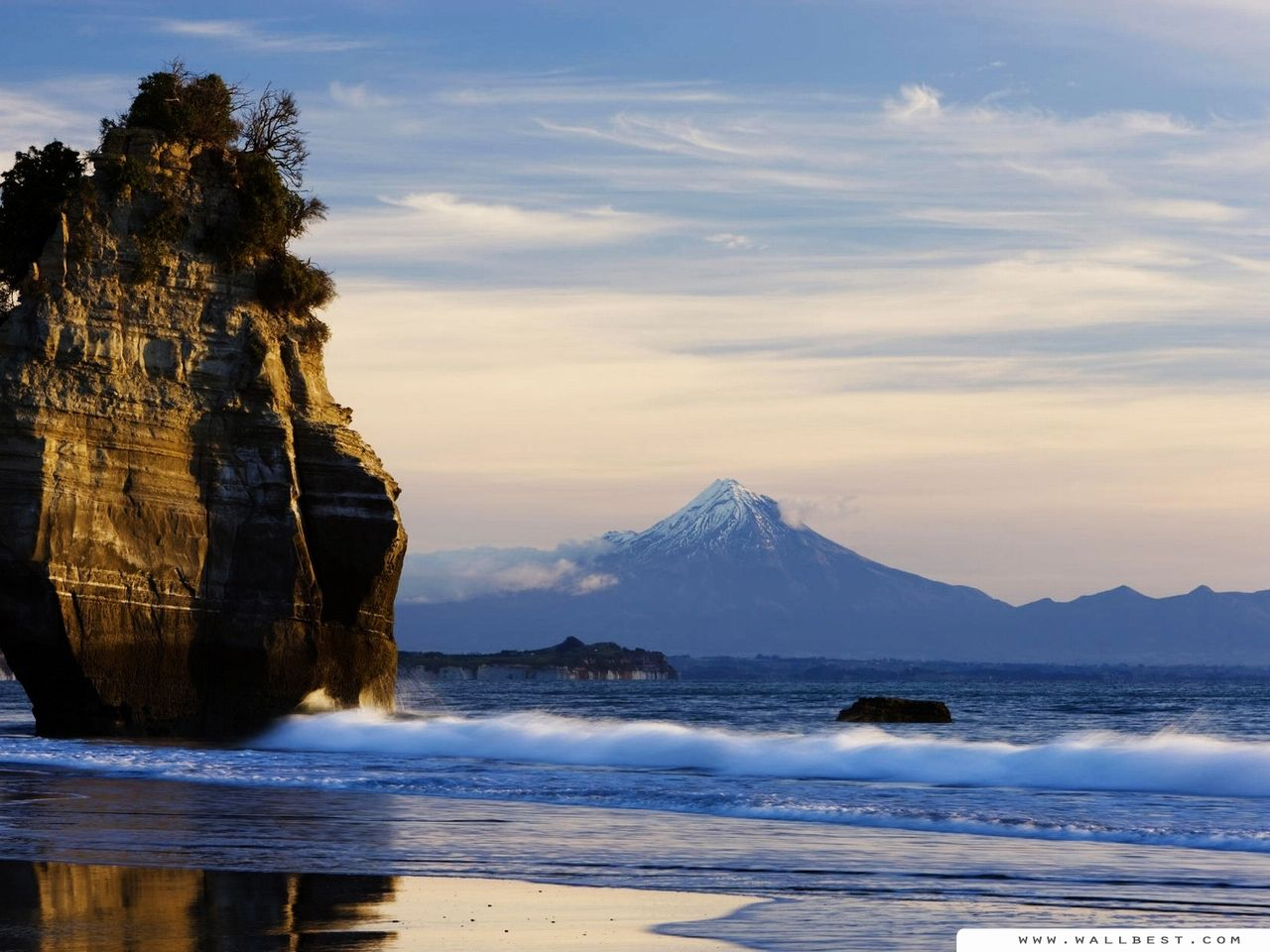 New Zealand Beaches Description Beach Mount Taranaki View 1280x960