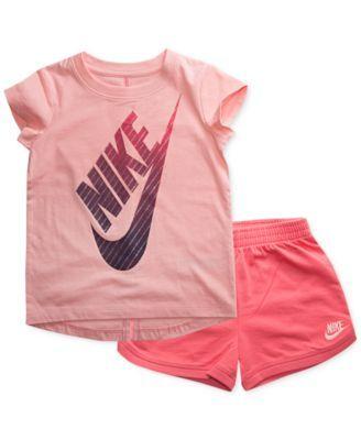 1da82acb05 Nike 2-Pc. Graphic-Print T-Shirt & Shorts Set, Toddler Girls | macys.com