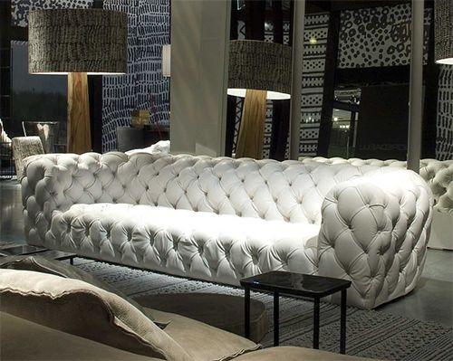 White Sofa Decor Design Tufted Leather Sofas