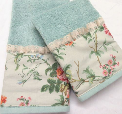 42bae26f8d1 Ralph-Lauren-TOULOUSE-Floral-Decorator-Fabric-2-Custom-Hand-Towels ...