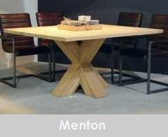 Vierkante Eettafel Kopen.Vierkante Tafel Met Kruispoot Menton 1 Eettafel Tafel