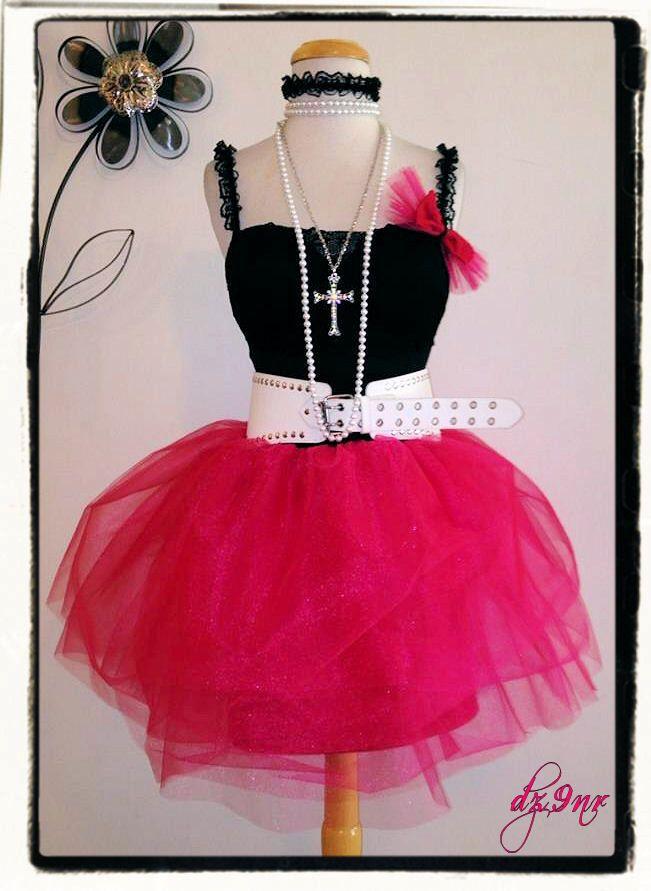 80s Prom Dress~ 80\'s Clothing~ Hot Pink High Waist Tulle Skirt Tutu ...