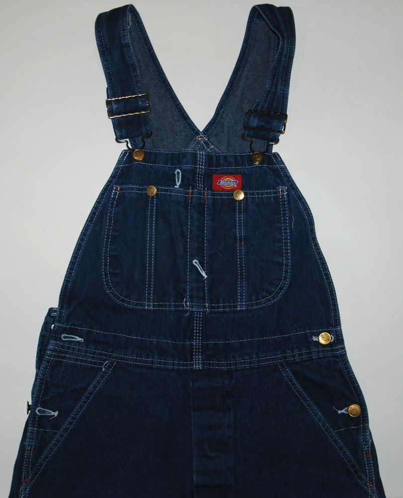 vintage dickies overalls dungarees jeans blue womens boys on dickies coveralls id=17019