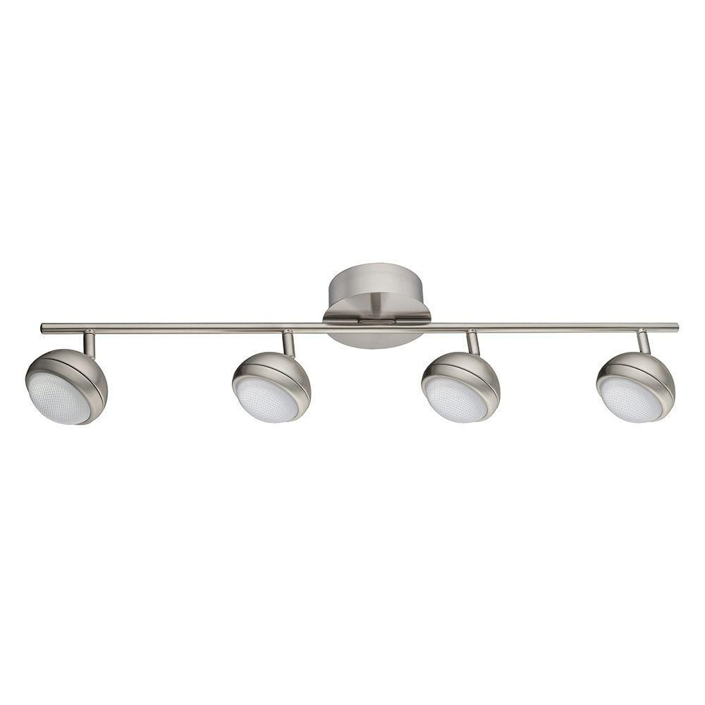 Eglo Lombes 1 2 5 Ft 4 Light Matte Nickel Led Track Lighting