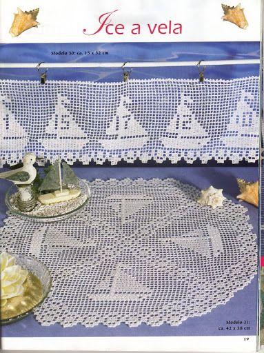 Häkeln Borte Tischdecke Maritim Crochet Edging Doily Nautic