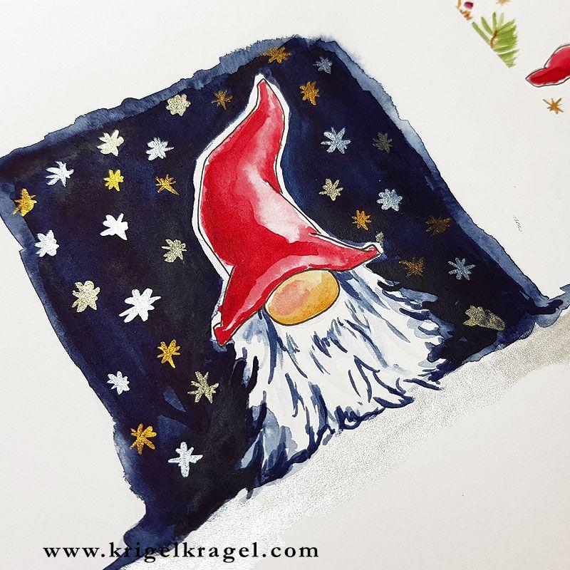 Malanleitung: Wichtel selber malen in Aquarell – mit Freebie. Hier findest du eine Malanleitung mit Wasserfarben für Wichtel. Ich zeige dir Schritt für Schritt wie man Wichtel malt und gebe dir im Beitrag ein Freebie zum Abpausen und Nachmalen. #wichteln #wichtel #malen #aquarellanleitung #aquarell – Weihnachtswichtel