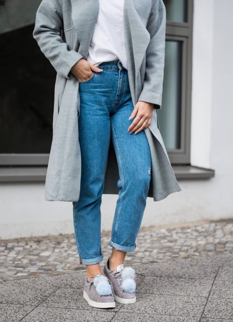 Todays Outfit by Style Appetite covers the trend of Pom Pom Sneakers with  affordable alternatives to Joshua Sanders and Josefinas fake Fur Sneaker.