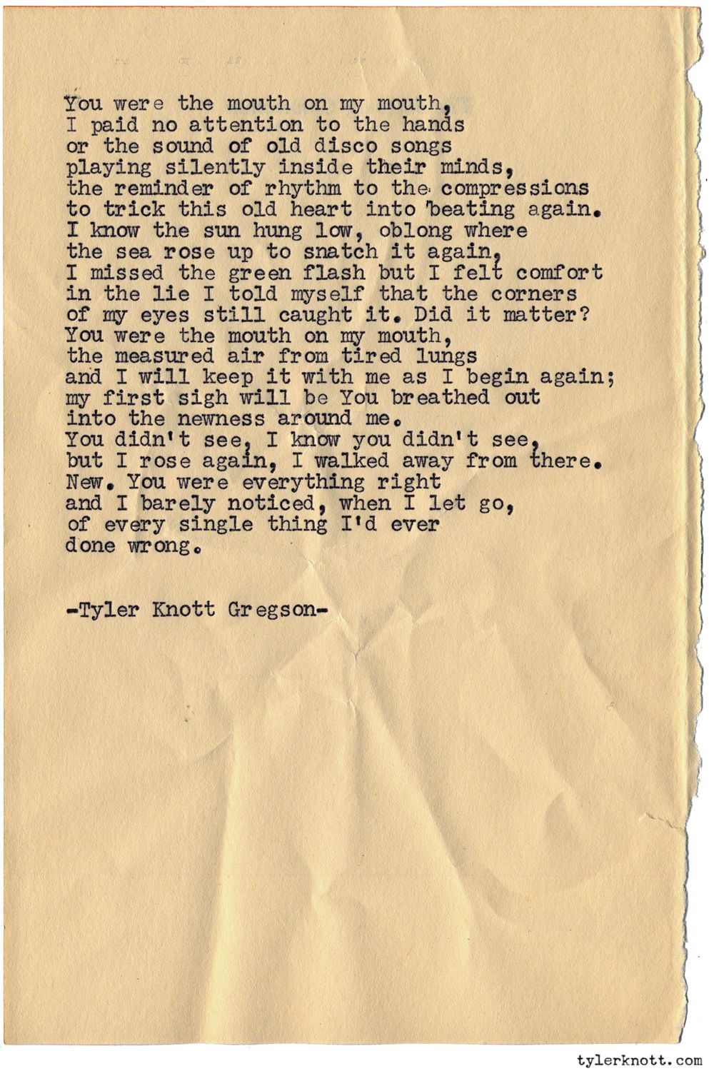 Typewriter Series 1040 By Tyler Knott Gregson Chasers Of The