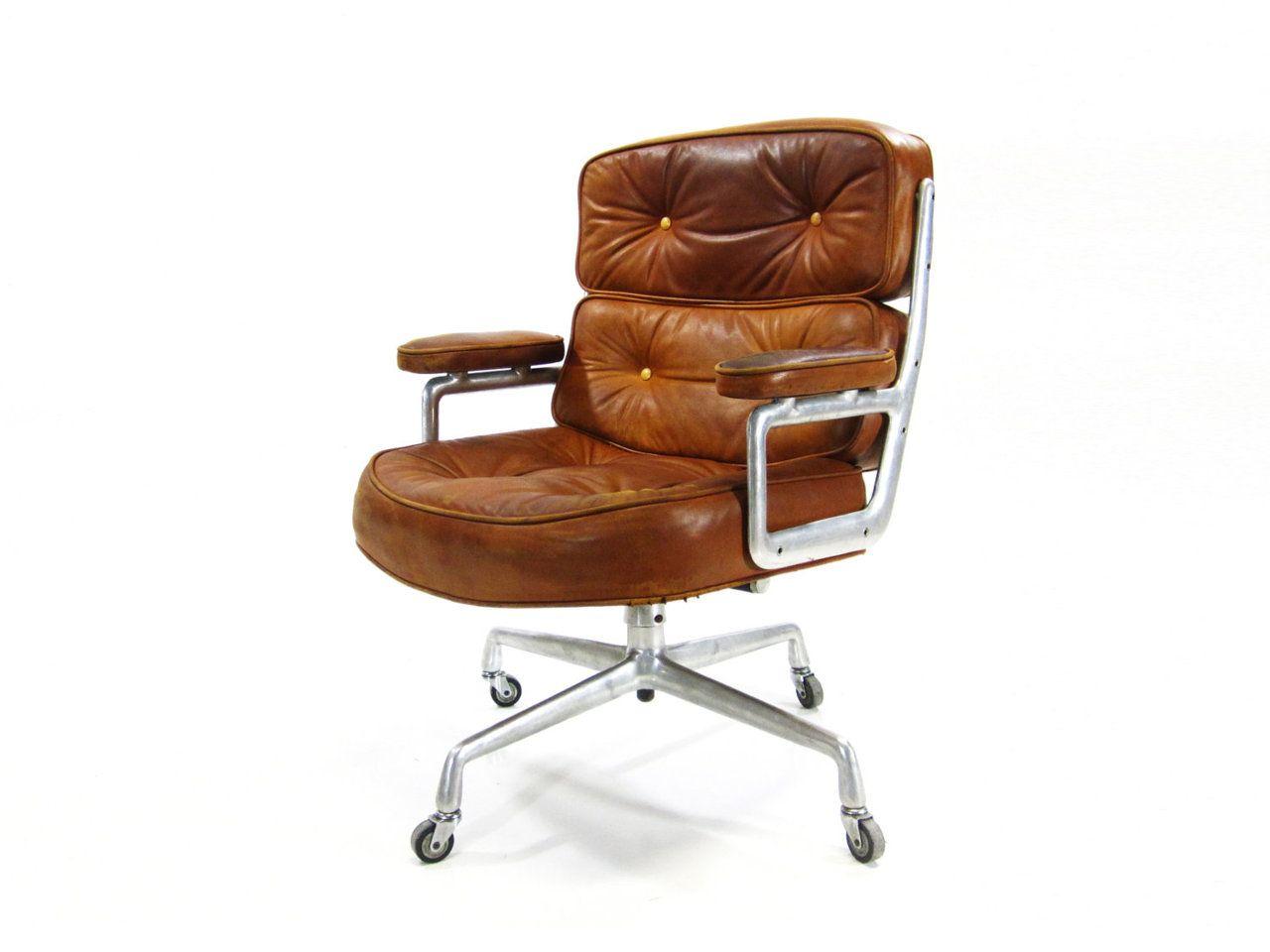 Vintage Herman Miller Time Life Chair Designed By Charles And Ray Eames Stuhl Design Retro Burostuhl Burostuhl
