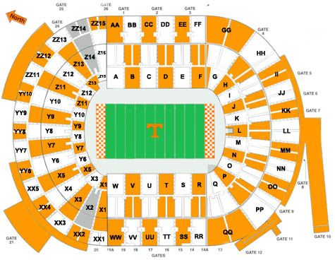 Ut football stadium seating chart footballupdate co